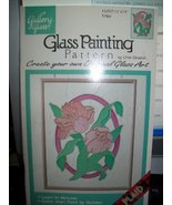 "Gallery Glass Glass Painting Pattern ""Tulips"" - $9.85"