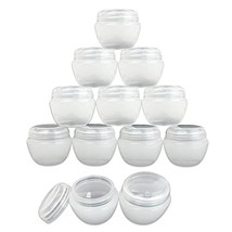 Beauticom 12 Pieces 50G/50ML White Frosted Container Jars with Inner Lin... - $15.66
