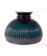 Green Cased Glass Ribbed 10 inch Oil Lamp Student Shade fits Aladdin Ker... - $66.95