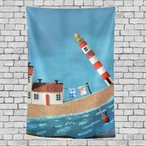 Wall Hanging Deco Beautiful Lighthouse Landscape Pattern Kids Wall Decor... - $26.00