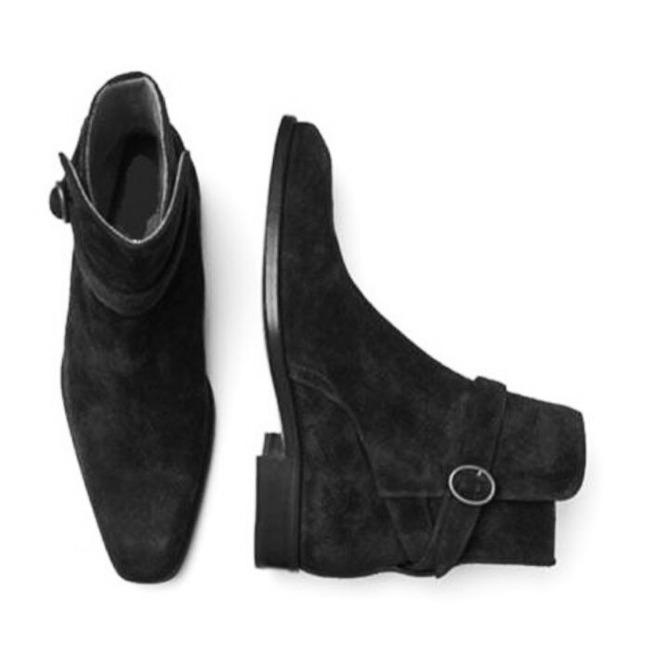 806c42624d1 Rebelsmarket jodhpurs ankle boot men black ankle high suede leather mens  suede boot boots 4
