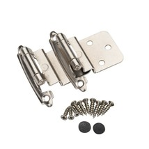 25 Pair 50 Pcs Self Closing Cabinet 3/8 Offset Inset Hinges Satin Nickel... - $29.65