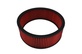 "HIGH FLOW WASHABLE & REUSABLE ROUND AIR FILTER ELEMENT REPLACEMENT 14"" X 5"" RED"