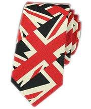 [Cool Union Jack] Novelty Neckties Skinny Ties for Men&Boys Casual/Formal Wear