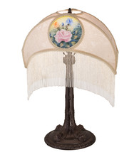 "23"" High Reverse Painted Roses Fabric Table Lamp - $498.00"