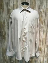 Ermenegildo Zegna men shirt size 41/16 white blue b25 - $28.04