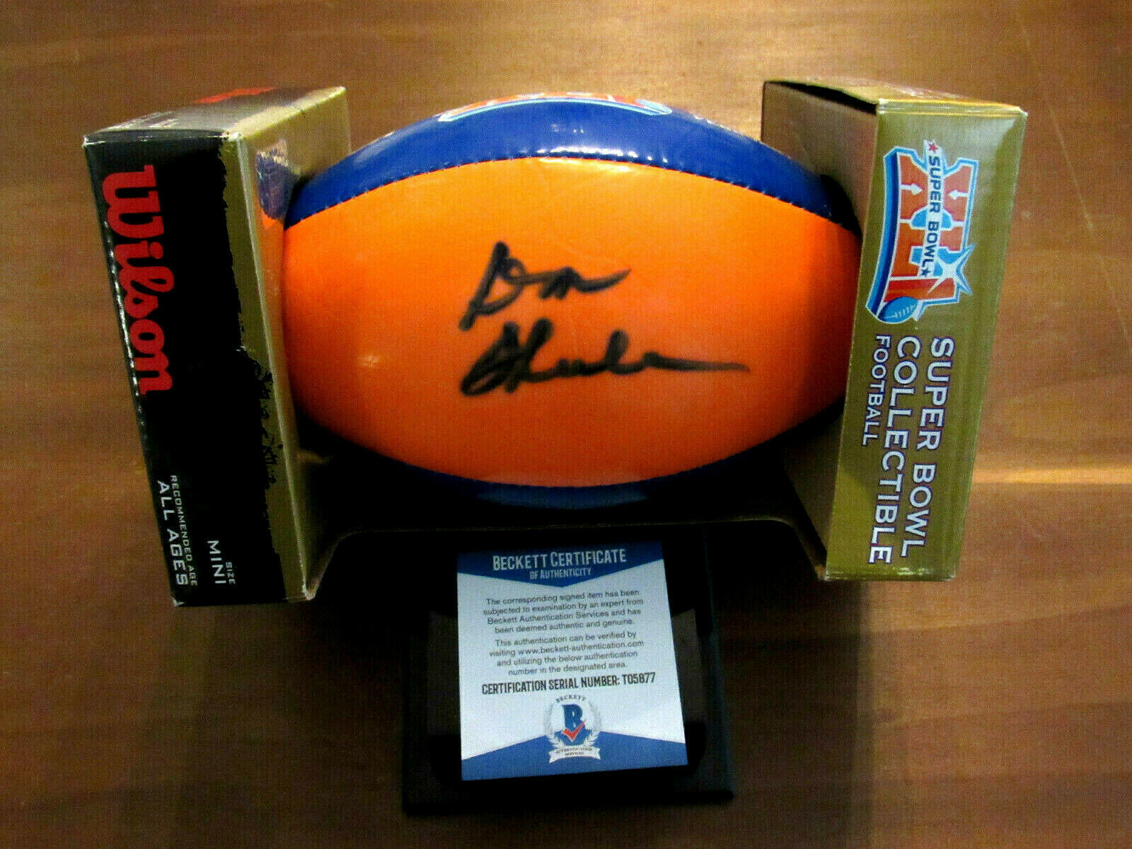 Primary image for DON SHULA HOF MIAMI DOLPHINS 1972 SBC SIGNED AUTO 2007 SB XLI FOOTBALL BECKETT