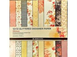 My Mind's Eye In Bloom 12x12 Cardstock Paper Pad #BLGS01