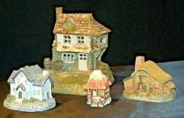 Cottages Holiday Decor Pieces (4) AB 630 Collectible Vintage image 2