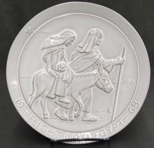 Frankoma Pottery Flight Into Egypt Plate Jesus Mary & Joseph 1968 by Joh... - $24.74