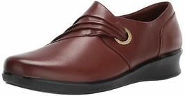 Clarks Women's Hope Shine Shoe, Mahogany Leather, 50 M US - $43.89