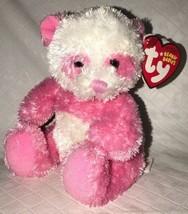 "Classic Ty Beanie Baby DAINTY Pink White Panda Bear 2007 MWMT 4.5"" Plush - $14.84"