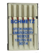 SCHMETZ Embroidery Sewing Machine Needles Size 14, E-90B - $6.11
