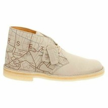 Clarks Originals Desert Boots Men's Sand Interest Map Limited Edition 26118164 - $130.00