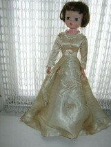 "1950s , Beautiful 21"" De Luxe Reading Doll in Elegant Bridal Gown - $79.95"