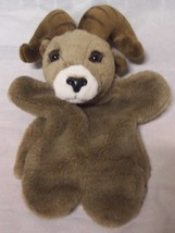 "K&M International BIG HORNED SHEEP RAM HAND PUPPET 11"" Plush STUFFED ANI... - $18.32"