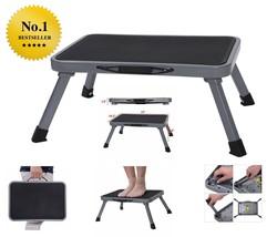 Folding Portable Ladder Durable Steel Lightweight Platform 330 Pound Cap... - $39.16