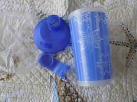 Tupperware Lupine Snowflakes Tumbler W/Lid NEW 6170B-5  HTF - $16.80