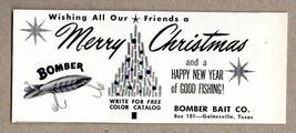 1964 Print Ad Bomber Bait Merry Christmas Fishing Lures Gainesville,TX - $8.55