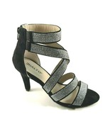 Rialto Revo Black Suede Strappy Rhinestone Dressy Sandal - $47.20