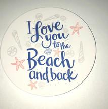 "Melamine Tidbit Appetizer Dessert Plates 6"" Set of 6 Beach House Starfis... - $498,67 MXN"