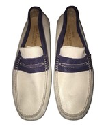 MENS DONALD J PLINER SHOES VERGIL VERGIL DRIVING MOC Off-White & Blue SU... - $120.77
