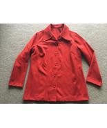 Vintage Polyester Blazer Burnt Orange Womens Suit Coat Jacket Disco 1970... - $24.74