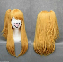 Fairy Tail Lucy Heartfilia Long Straight Blonde Ponytail Cosplay Wig+Hai... - $24.50