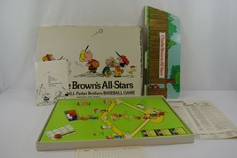 Charlie Brown's All Stars Board Game 1965 Parker Brothers Peanuts Bilingual - $38.52