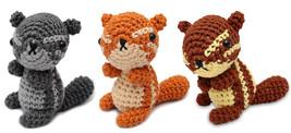 Squirrel Handmade Amigurumi Stuffed Toy Knit Crochet Doll VAC - $17.99