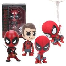 10cm Mini Deadpool Figure Bobble-Head  Marvel Toys 1/10 Scale Pre-painte... - $27.99