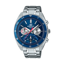 Casio Edifice Blue Chronograph Dial Stainless Steel Watch - $86.43