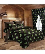 Regal Comfort Pot Leaf 7 Piece Queen Size Comforter with Sheet Set - $80.75