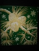 Vintage Christmas Card Pinecones Snowflakes - €2,77 EUR