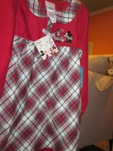 Wdw Disney Mickey Mouse And Minnie Mouse Holiday Nightgown Brand New With Tags - $29.99