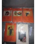 Dotti's Designs 5 Piece Pattern Set Cat Walk, Pumpkin, Turkey, Scarecrow... - $24.74