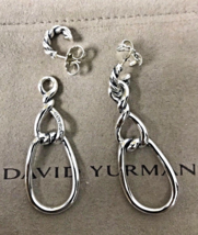 David Yurman Sterling Silver 925 Continuance Twisted Teardrop Earrings - $299.99