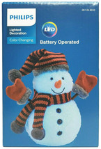 Philips Christmas Battery Powered Color Changing LED Snowman Mittens Figurine