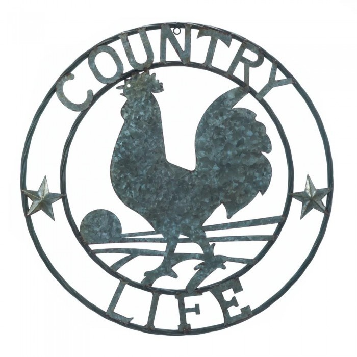 10018362 Accent Plus Country Life RoosterWall Plaque