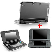 Crystal Protective Hard Clear Case+Clear Screen Protector New Nintendo 3... - $25.80