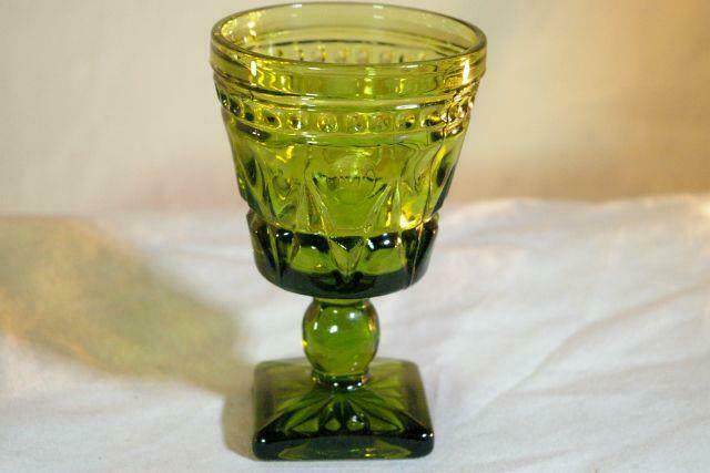 Colony Park Lane Green Wine Glass - $4.49