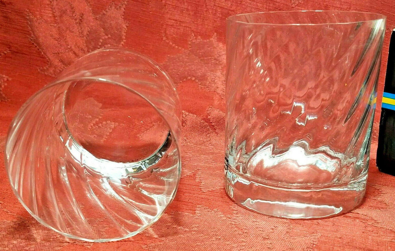 RARE 2 PER BOX ORREFORS Double Old Fashioned Glasses SWEDEN Gunnar Cyrén NIB