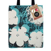 Tote bag Andy Warhol iconic design of Poppy Flowers with limited edition... - $19.90