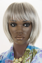 Grey 20% Med Brown Front to 30% Brown Nape Grey Medium Lace Front Jon Renau Wigs - $268.61