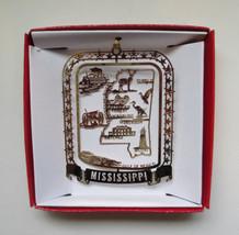 Mississippi Brass Ornament State Landmarks Travel Souvenir Gift - $13.95