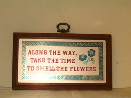 Vintage 1975 Russ Berry Treasured Thoughts Words Of Wisdom Wooden Plaque... - $12.00
