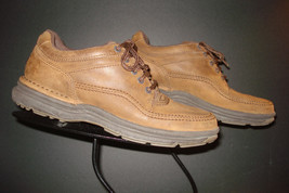Rockport Burnished Brown Nubuck Leather Casual Walking Oxford Sz 37.5 EU / 7 US - $62.48 CAD