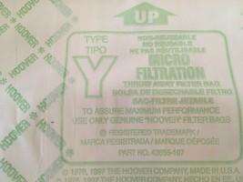 5-PACK Genuine Hoover Y Vacuum Cleaner Bags Micro Allergen Filtration 4010100Y image 2