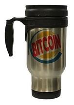Funny Bitcoin King Burger Parody 12 oz Hot/Cold Travel Mug - $16.78