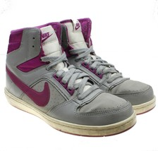 NIKE Delta LITE MID Womens Gray Fuschia Basketball Sneakers #386112-018 - $24.74